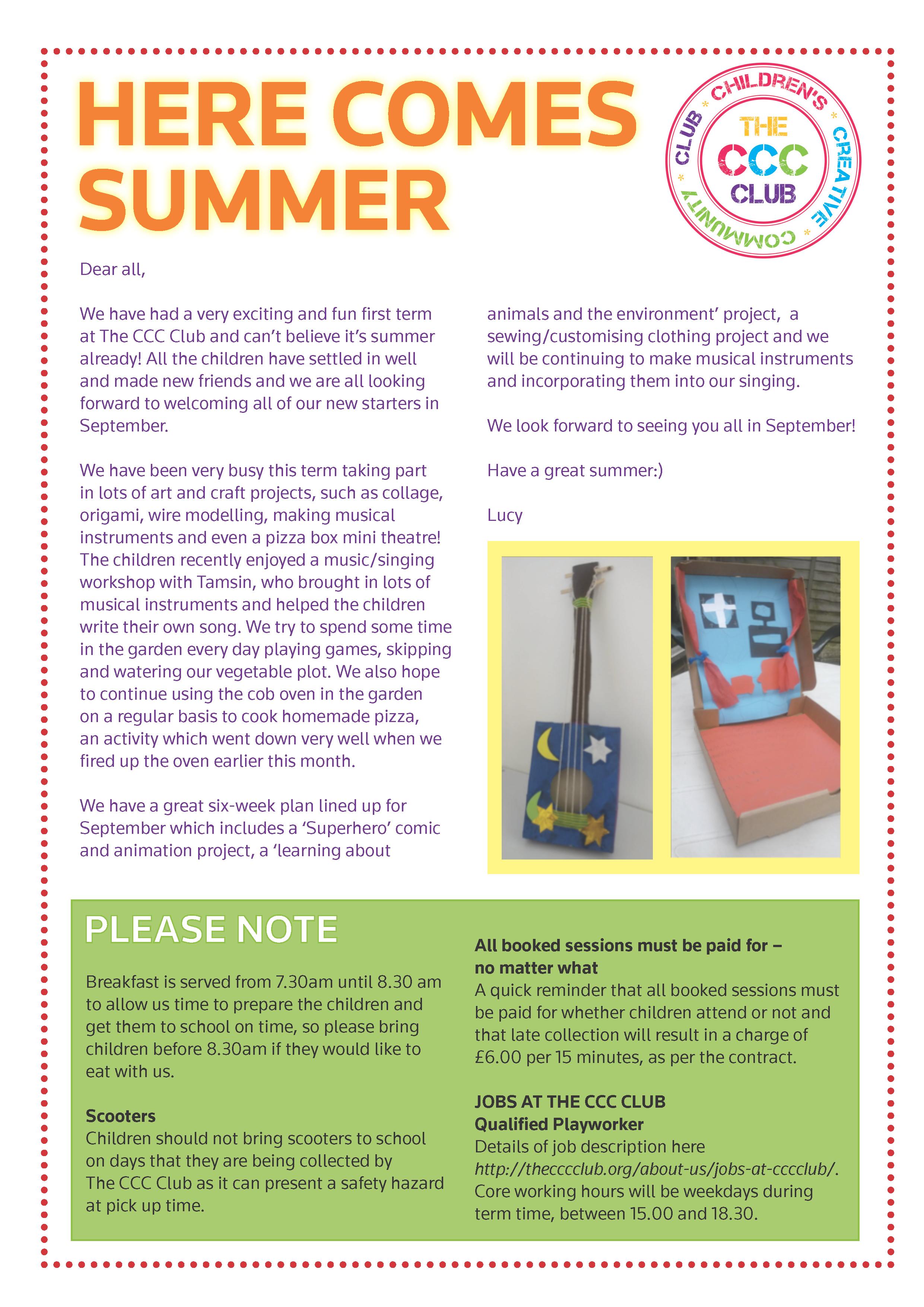 summer 2014 newsletter children 39 s creative community club. Black Bedroom Furniture Sets. Home Design Ideas